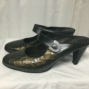 "BRIGHTON ""BEAU"" Women's Size 8 Black/Brown Strap M"